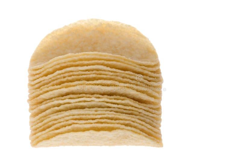 Pommes chips macro image stock