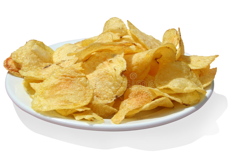 Pommes chips w/path photographie stock libre de droits