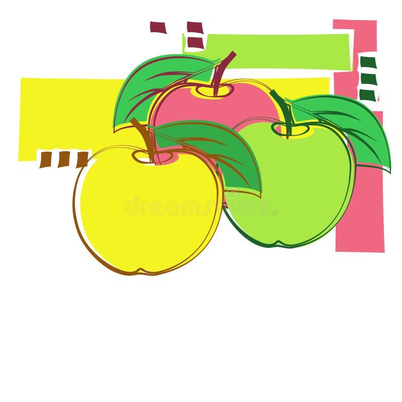 Pommes décoratives illustration stock