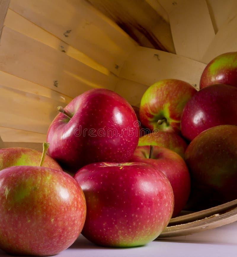 Pommes dans un panier photographie stock libre de droits