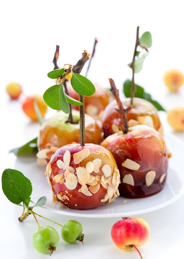 Pommes de caramel photo stock