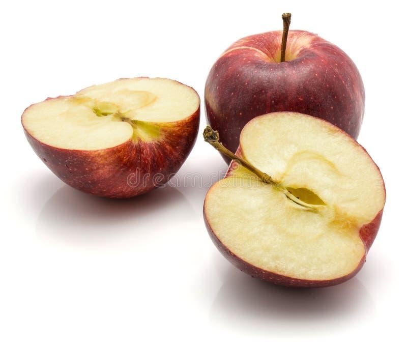Pommes de gala d'isolement sur le fond blanc image libre de droits