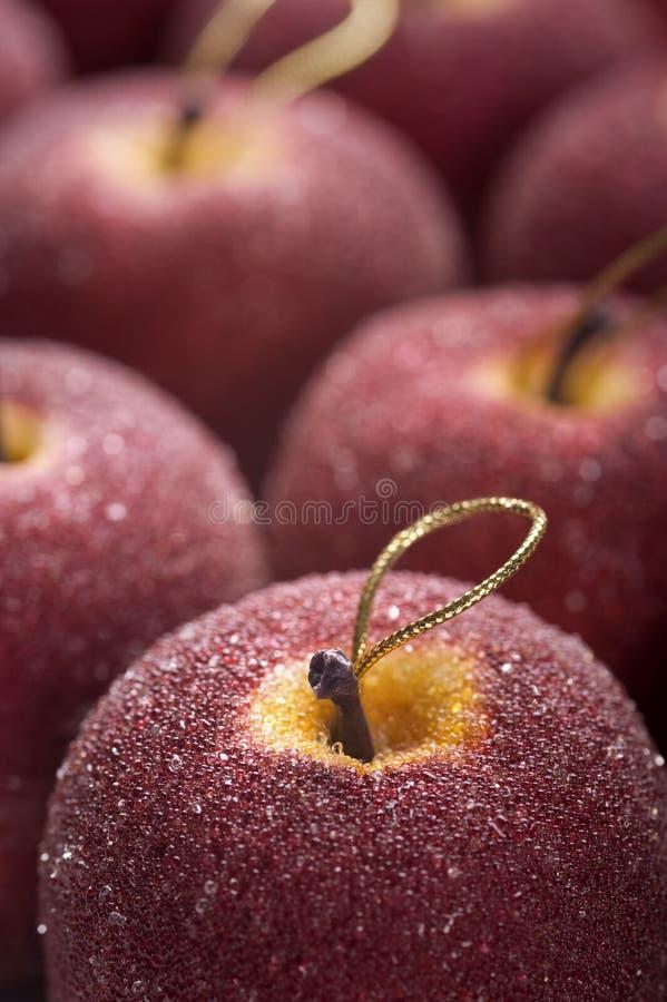Pommes de Noël photographie stock libre de droits