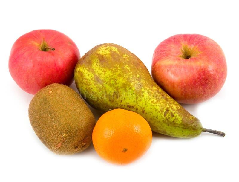 Pommes de poire avec la mandarine photo stock