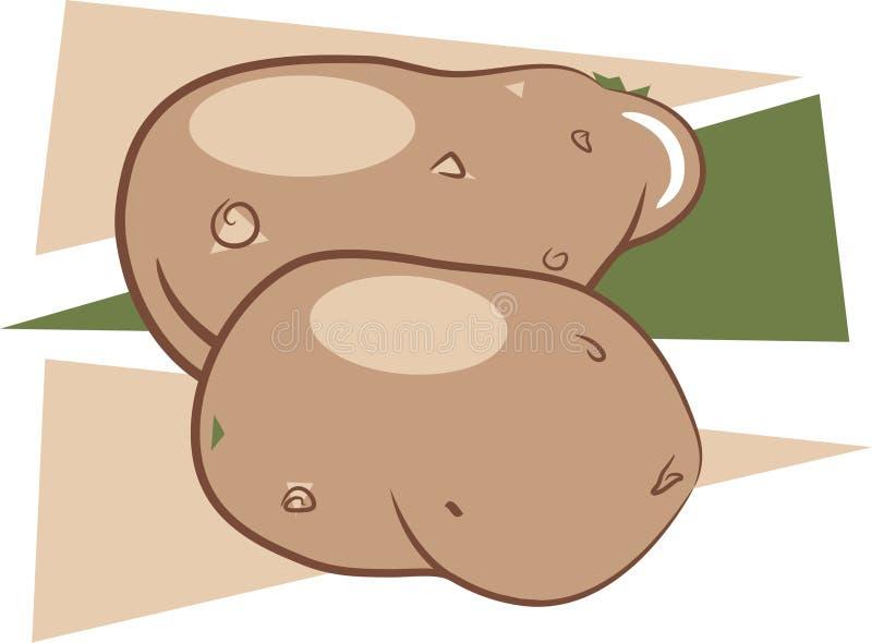Pommes de terre illustration de vecteur
