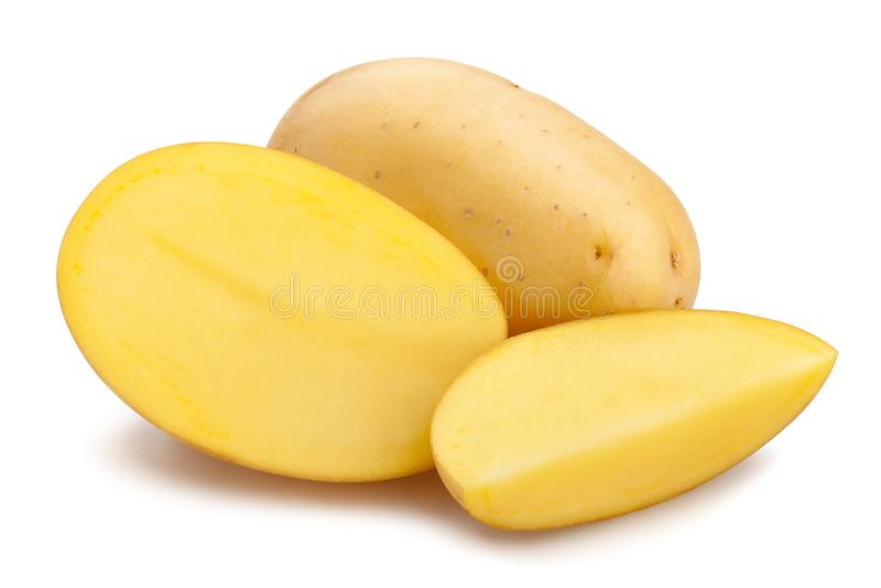 pommes de terre blanches image stock