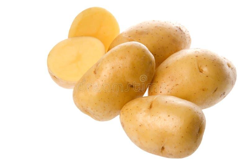 Pommes de terre d'isolement images stock