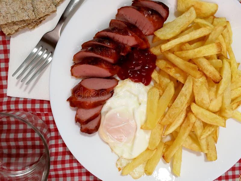 Pommes de terre françaises de plat photos libres de droits