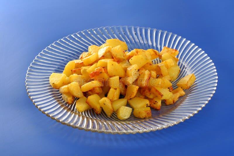 Pommes de terre frites de la glace images libres de droits