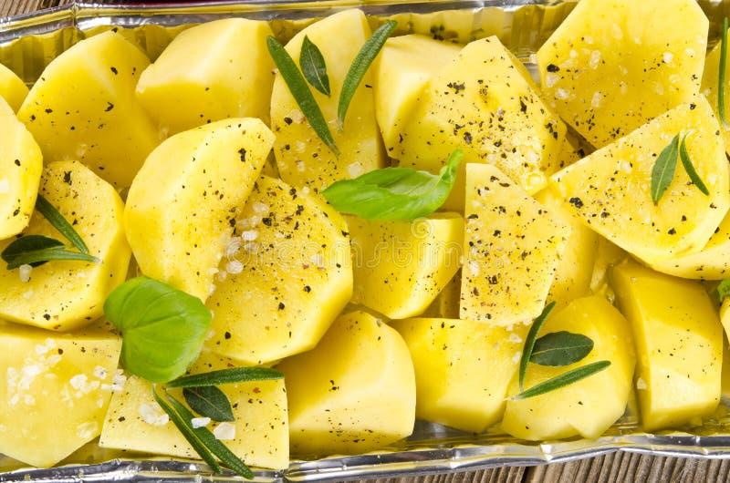Pommes de terre frites fraîches images stock