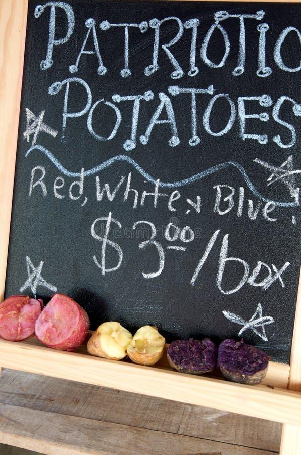 Pommes de terre patriotiques photos libres de droits