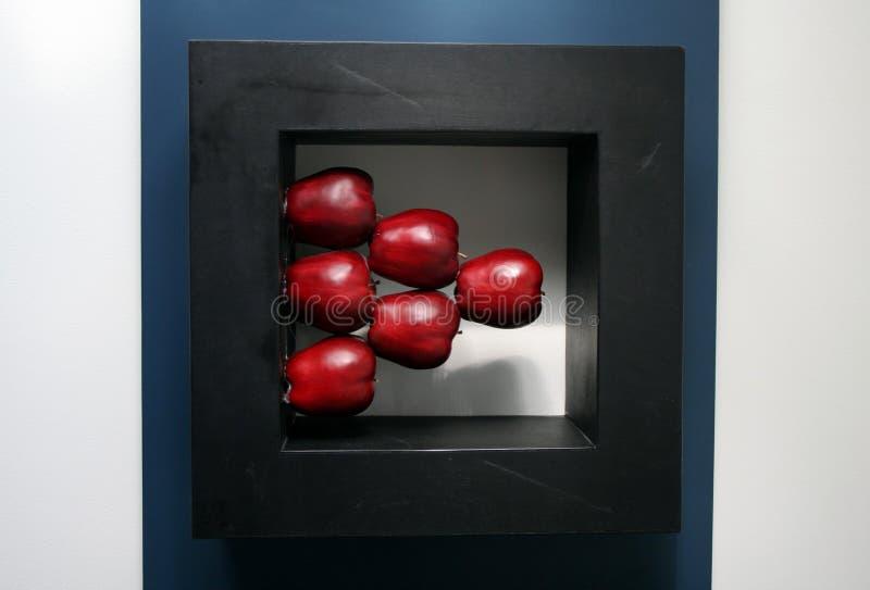 Pommes empilées photographie stock