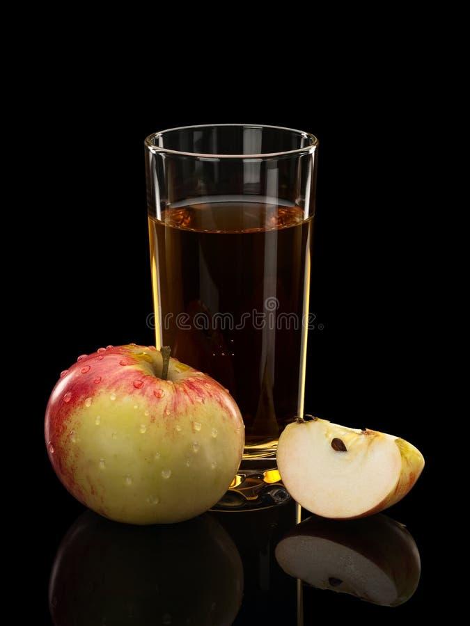 Pommes et jus de pomme photo stock