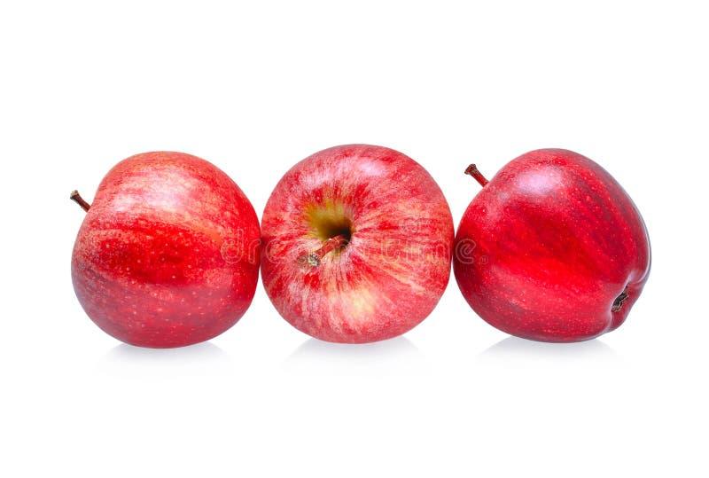 Pommes fraîches de gala d'isolement sur le blanc image libre de droits