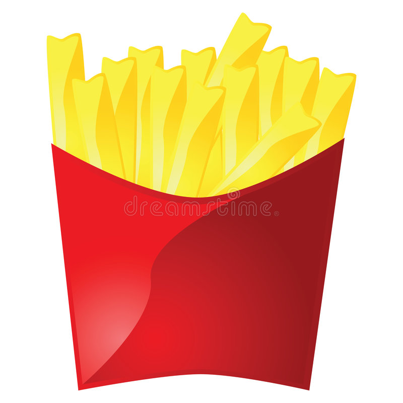 Download Pommes frites illustration de vecteur. Illustration du empaquetage - 8656113