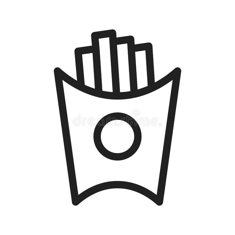 Pommes frites illustration stock