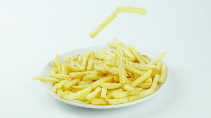 Pommes-Frites, Chips oder Fingerchips stockbild