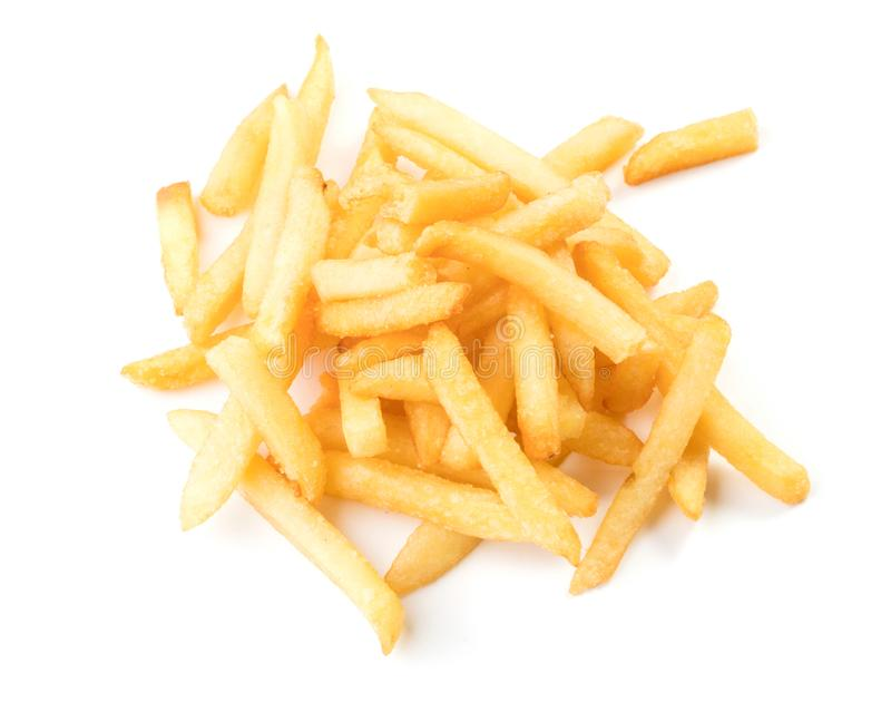 Pommes frites d'isolement photographie stock