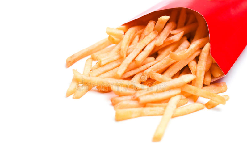 Pommes frites d'isolement photos stock