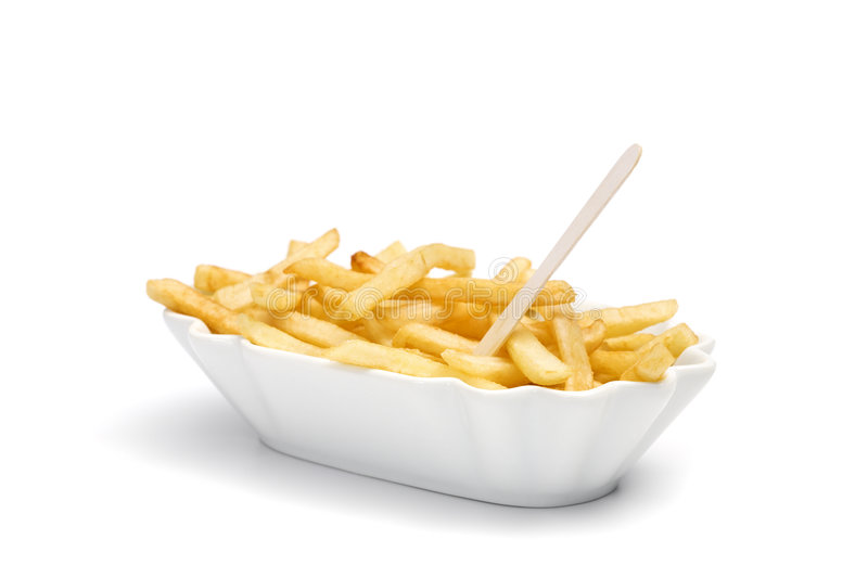 pommes frites d'isolement images stock