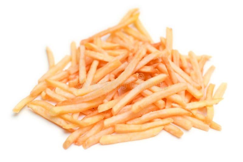 Pommes frites d'isolement sur un fond blanc photos libres de droits