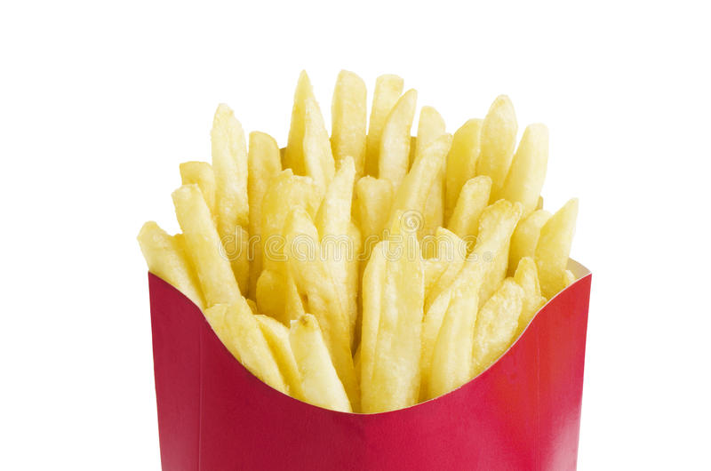 Pommes frites dans la boîte photographie stock libre de droits