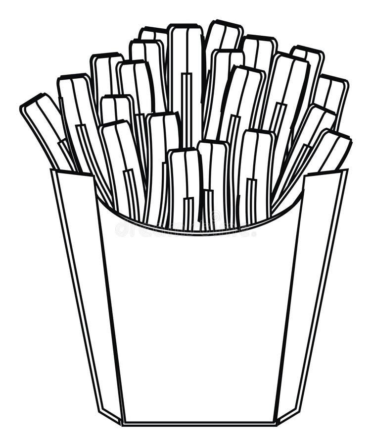 Pommes frites de coloration illustration de vecteur
