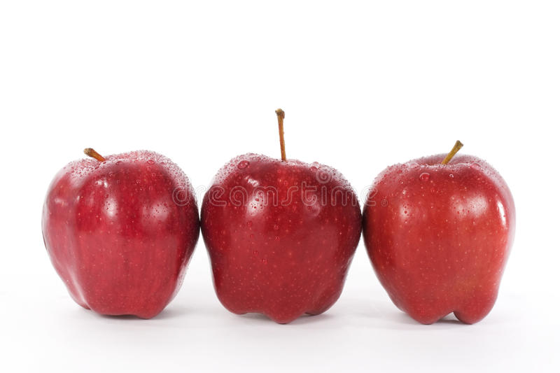 Pommes red delicious images libres de droits