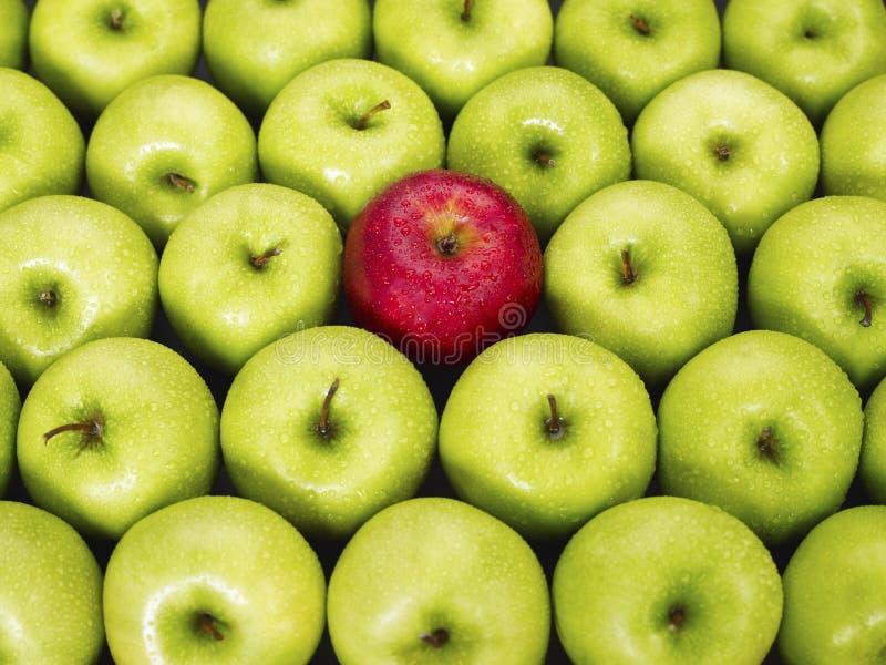 Pommes rouges et vertes photo stock