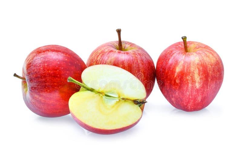 Pommes rouges fraîches de gala d'isolement sur le fond blanc photographie stock