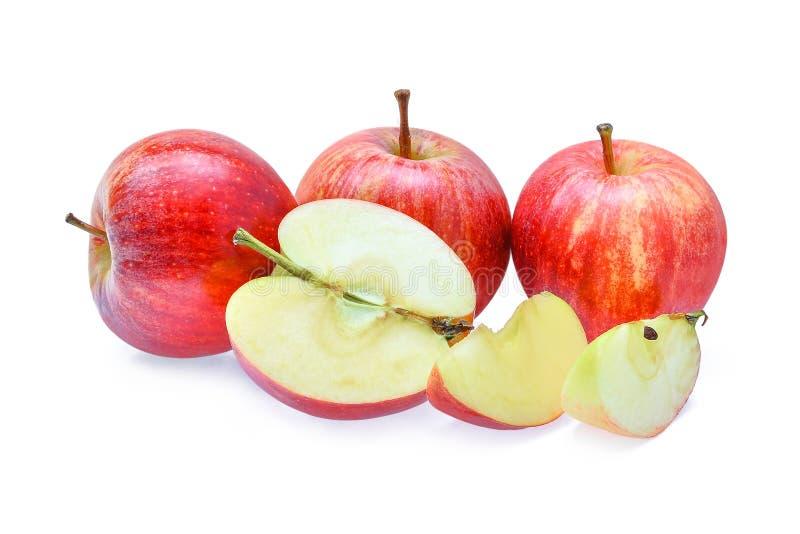 Pommes rouges fraîches de gala d'isolement sur le fond blanc photo libre de droits