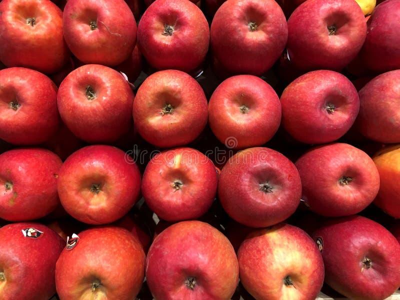 Pommes rouges Légumes d'abd de fruits photo stock