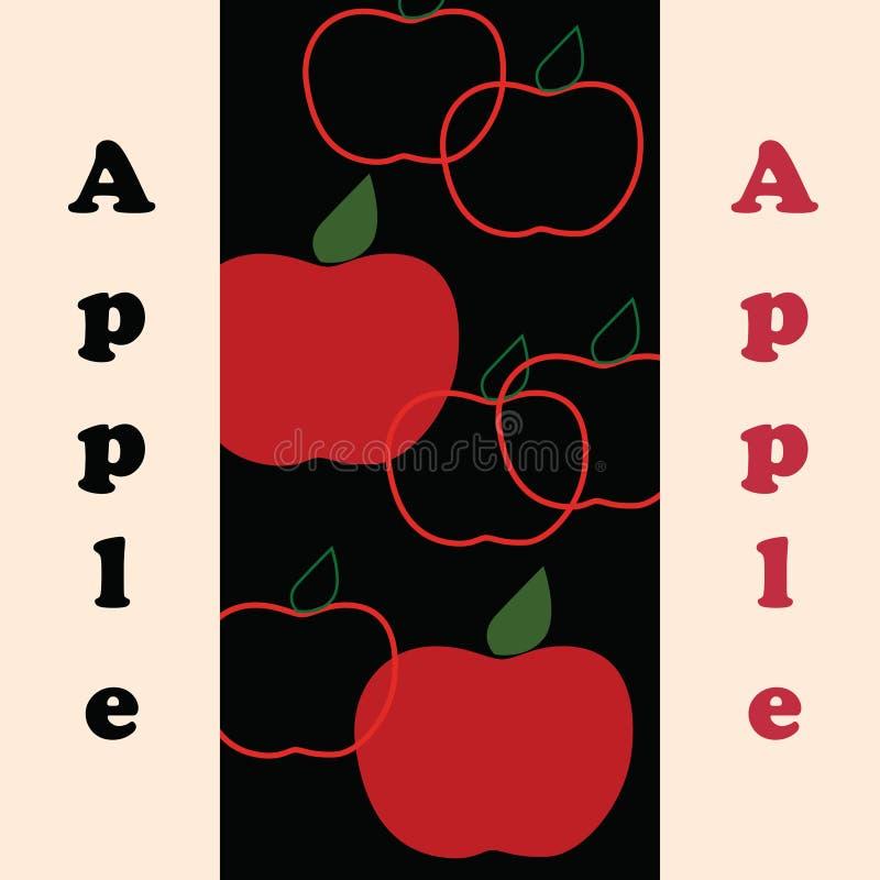 Pommes rouges stylisées de vecteur illustration stock
