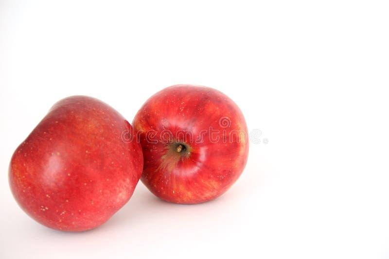 Pommes rouges sur le fond blanc photos stock