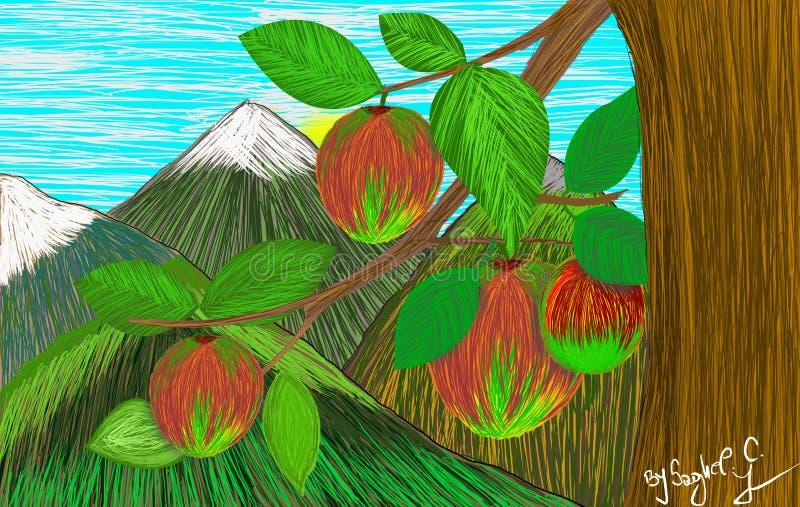 Pommes savoureuses accrochantes photo stock