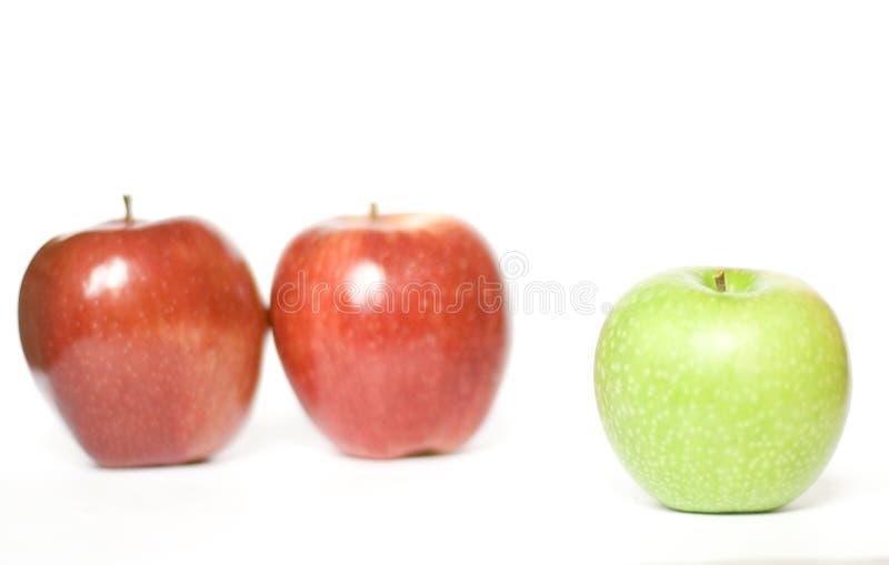 pommes trois photos stock