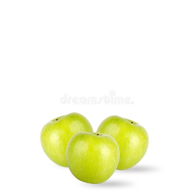 Download Pommes Vertes D'isolement Sur Le Fond Blanc Photo stock - Image du lame, juteux: 77151044