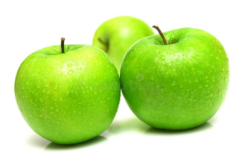 Pommes Vertes Juteuses 4 Photo libre de droits