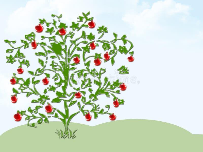 Pommier illustration de vecteur