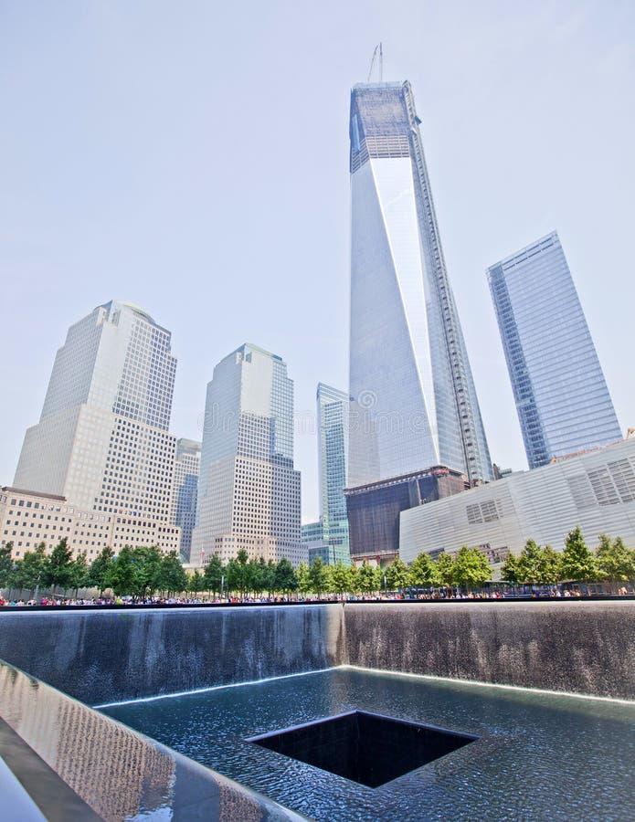 9/11 pomników fotografia royalty free