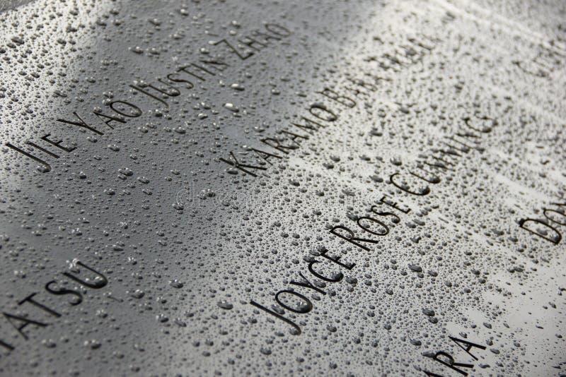 9/11 pomników obraz stock