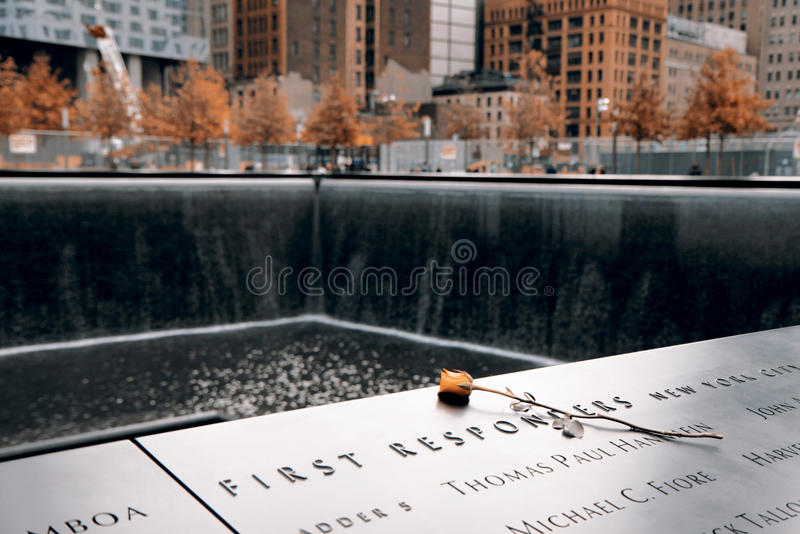 Pomnik 9-11-2001 obraz stock