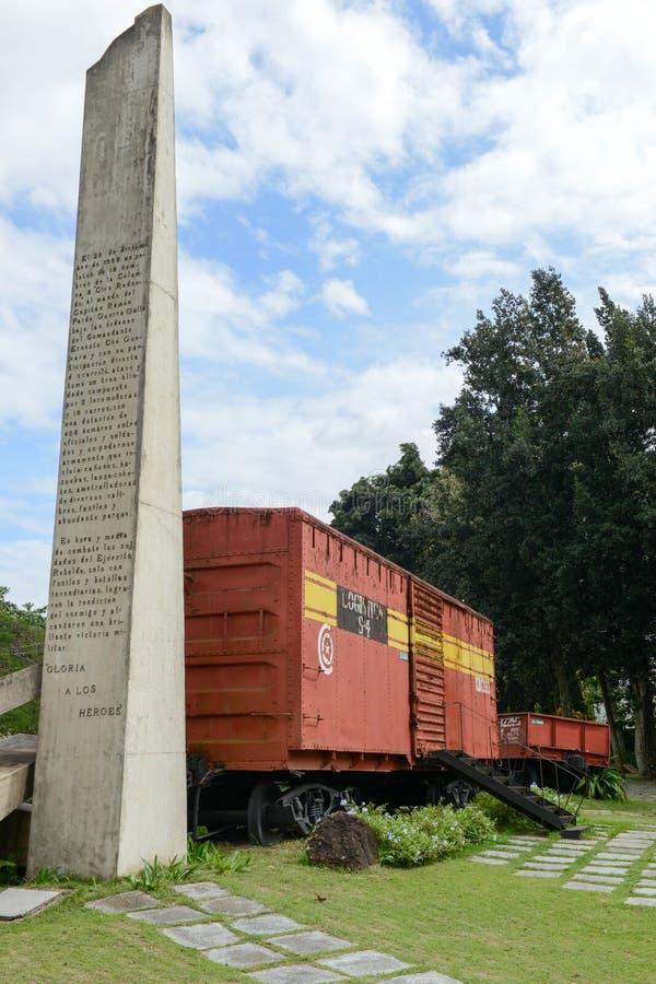 Pomnik chwytający Che Guevara siłami pociąg zdjęcia stock