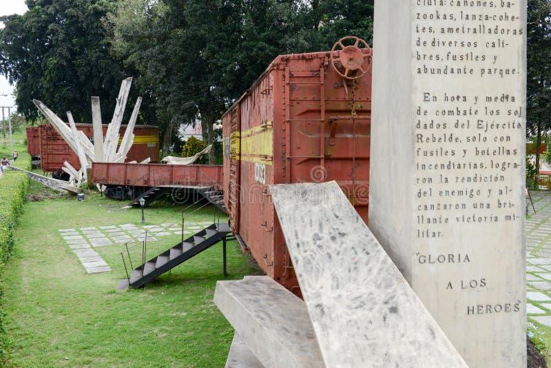Pomnik chwytający Che Guevara siłami pociąg fotografia stock
