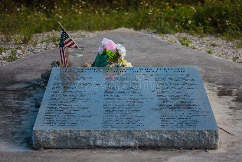 Pomnik, dedykujący ofiary trzask ValuJet lot 59 obrazy stock