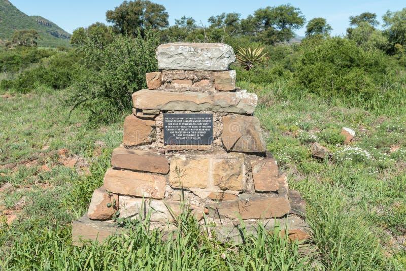 Pomnik dla 1820 Szkockich osadników zdjęcie stock