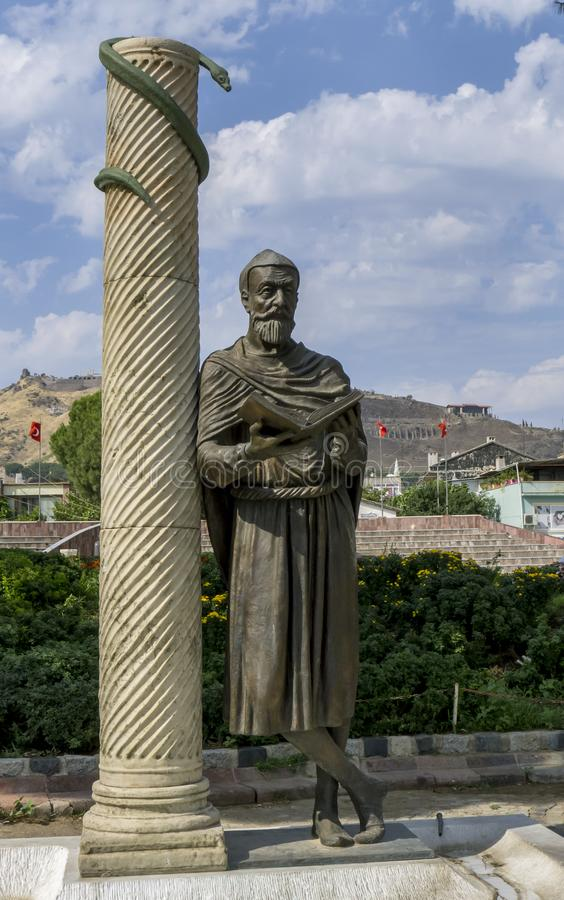 Pomnik Galena z Peramonu w Bergamie w Turcji zdjęcie stock
