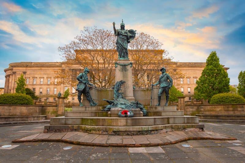 Pomnik królewiątka Liverpool pułk w Liverpool, UK obraz royalty free