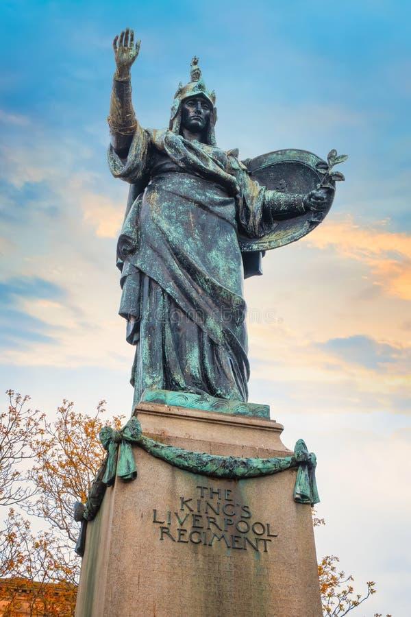 Pomnik królewiątka Liverpool pułk w Liverpool, UK fotografia stock