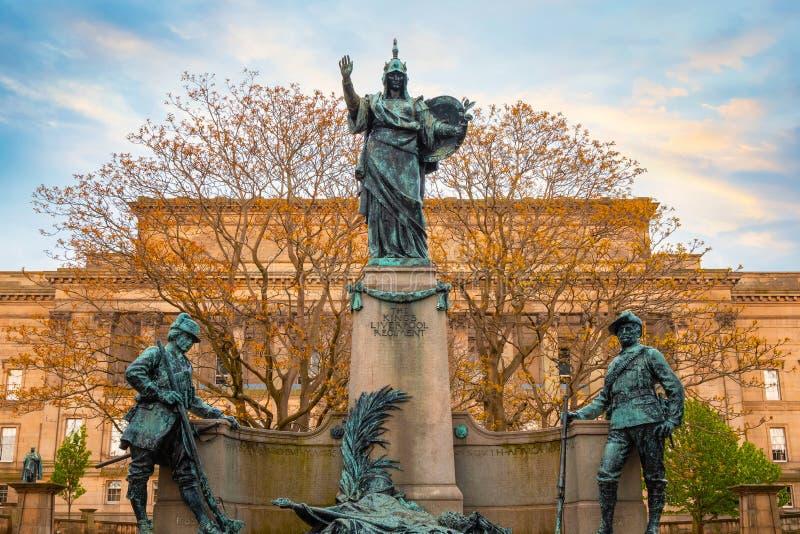 Pomnik królewiątka Liverpool pułk w Liverpool, UK obrazy stock